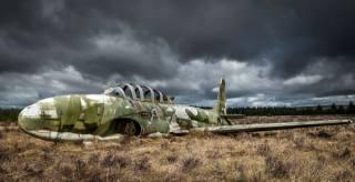 field, the plane, scrap
