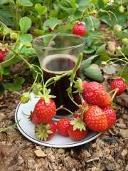 coffee, strawberry
