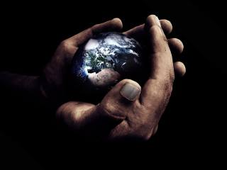 руки, земля