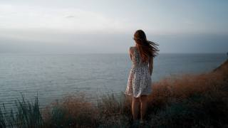 girl, dress, the wind, антон Фреймз