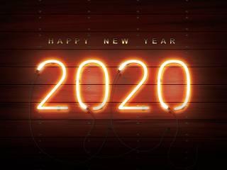 New year, Neon, 2020