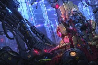 cyberpunk, robot, SkiFi Girl