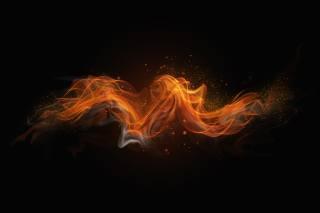 oheň, pozadí, minimalismus