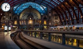 station, Belgium, railway, train, watch