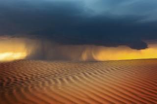 poušť, písky, mrak