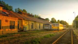 жд станция, old, trains
