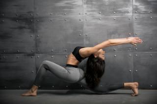 girl, занимается, gymnastics