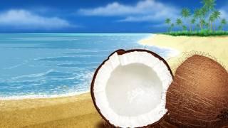 креатив, вектор, векторний, малюнок, живопис, тропіки, тропічний, пальми, пальма, кокос, кокосовый, горіх, узбережжя, море, пісок, пляж, небо