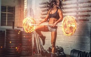 girl, sports, fitness, art