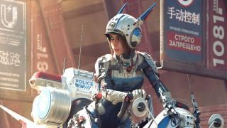 Police, Scifi, Future, artist, artwork, digital-art, Traffic Police, Cyber Girl
