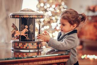 Анна Ипатьева, child, girl, toy, carousel, bokeh