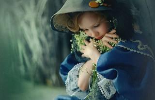 дама с цветами, девочка, шляпа, наряд, поза, Наталья Законова