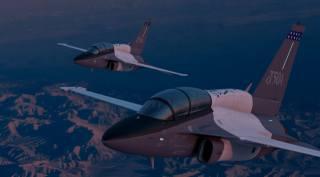 letectví, боевые самолёты, LOCKHEED, martin, piloti, kabina, let, t-50a, krajina, учебно-боевой, večer, letadlo