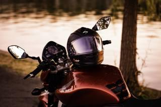 motorcycle, the bike, helmet