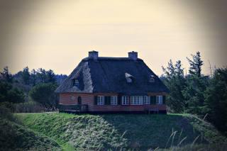 chata, příroda, Dánsko