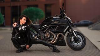 ducati, motorcycle, наталья зайцева, model, pose, илья пистолетов