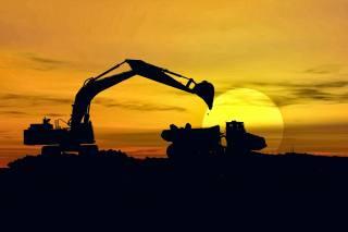 excavator, dump truck, loading, вскрыша