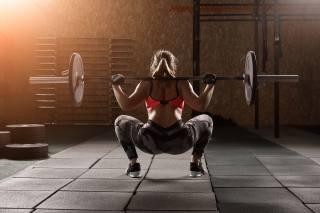 fitness, tyč, vzadu, trénink, ruce, nohy, točit