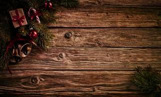 Новый год, леденцы, доски, ветки, подарки, шарики, Колокольчики, шаблон