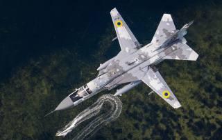 letadlo, Su-24m, Ukrajina, let, moře