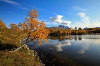 the lake, autumn, Norway