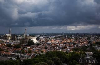 Харлем, nizozemsko, město, panorama