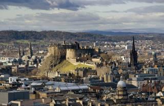 Эдинбургский, hrad, Skotsko, město