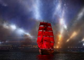 sailboat, the festival, scarlet sails