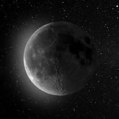 the moon, The surface of the planet, black, background, space