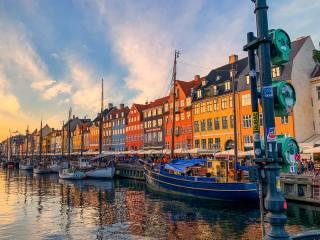 Kodaň, nábřeží, Dánsko