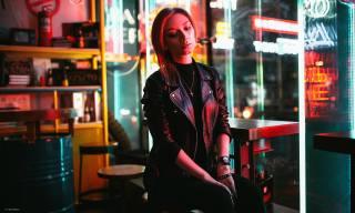 girl, кожаная куртка, watch, photo, егор жинков