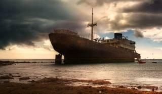 moře, nebe, loď