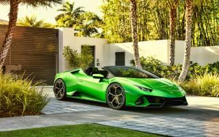 lamborghini, Huracan, Spyder, hypercars, green