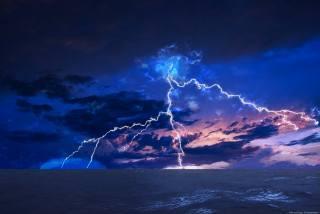 sea, the storm, the sky