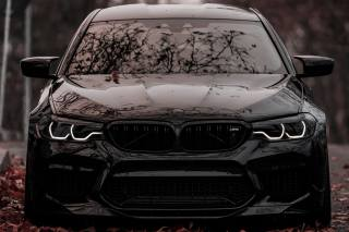 BMW, F90, road, the city, autumn