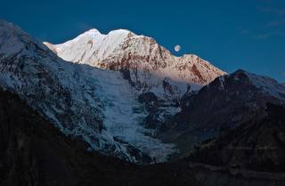 ledovec, Himaláje, hory, гангапурна, Nepál, Николай Стюбко