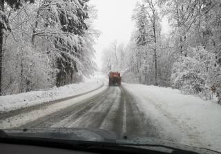 cesta, Auto, sníh