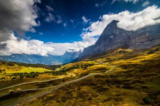Switzerland, mountains, Grindelwald, Alps, clouds, nature