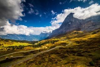 Švýcarsko, hory, Grindelwald, Alpy, mraky, příroda