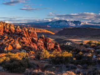 hory, krajina, Arches, Národní Park, Utah, skála, příroda
