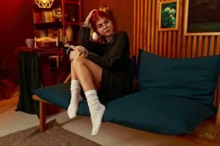 girl, red, photo, Костя Хроменков