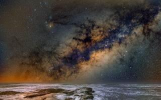 звёзды, небо, море, фантазия