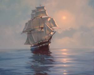 Джеймс Бреретон, painter, painting, sailboat