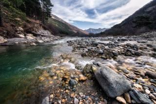 mountains, the river, stones, photo, Михаил Туркеев