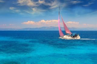 krajina, moře, jachta