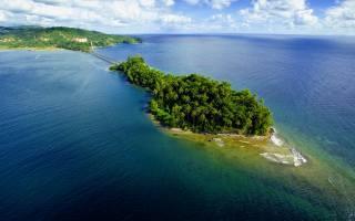 zelená, ostrov, oceán, léto, slunce, Удивительный, pláž, dovolená