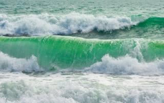 modrá, vlna, pláž, léto, letní, přímořská krajina, moře, moře, pláž, vlny, oceán