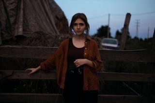 girl, portrait, the dark background, photographer, tesi