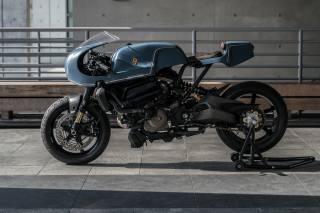 мотоцикл, ducati, monstro, кафе гонщик