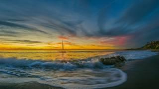 sea, the sky, sail